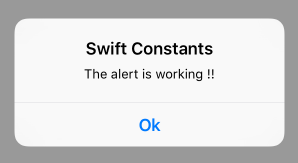 Swift Constant Test